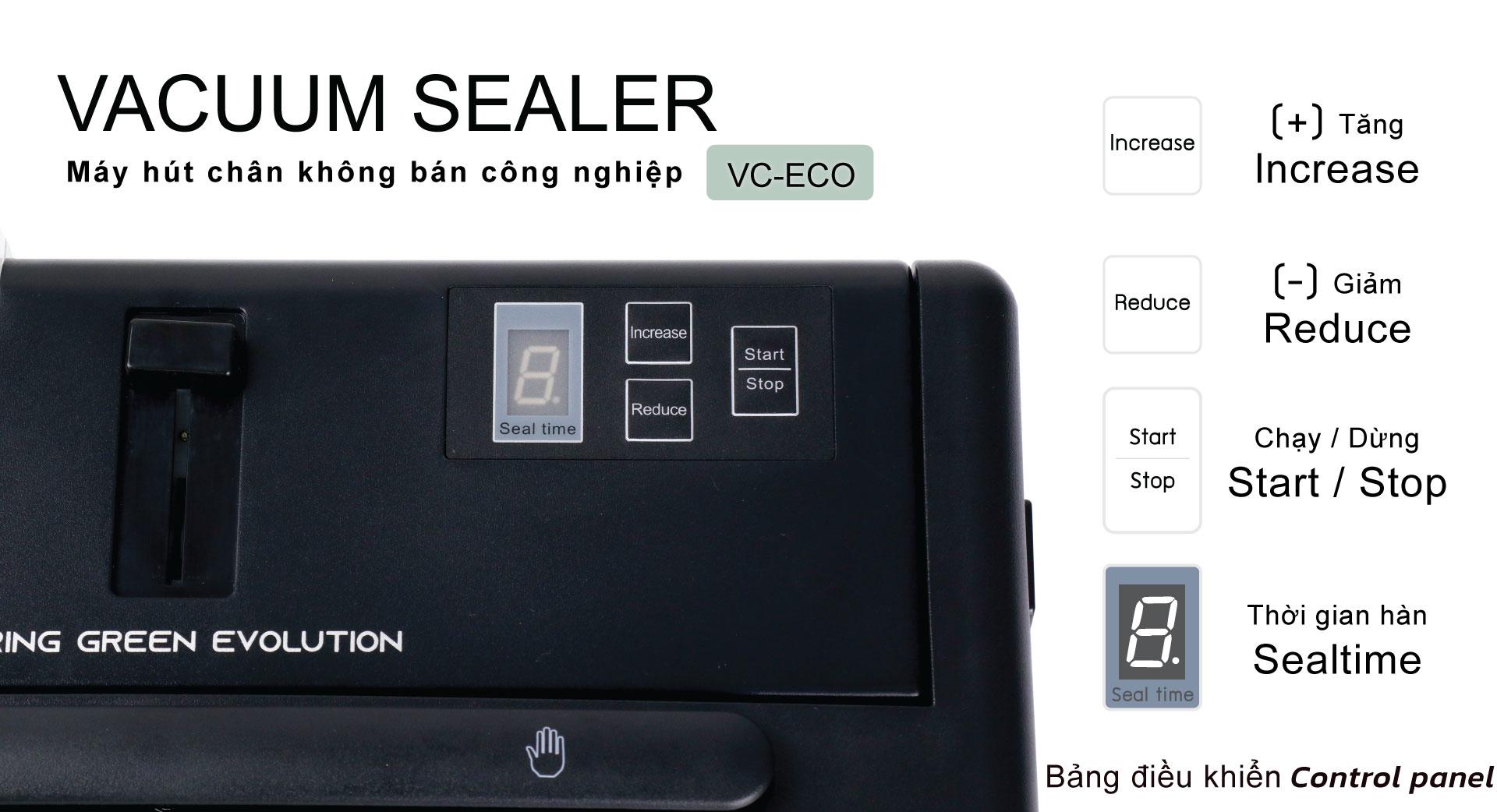 Mua máy hút chân không VC-ECO - Bảng điều khiển