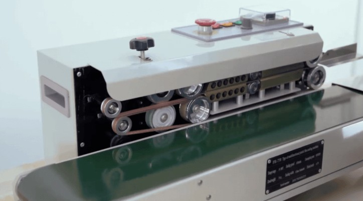 Máy hàn miệng túi băng chuyền tự động hàn được mọi loại túi tốc độ cao