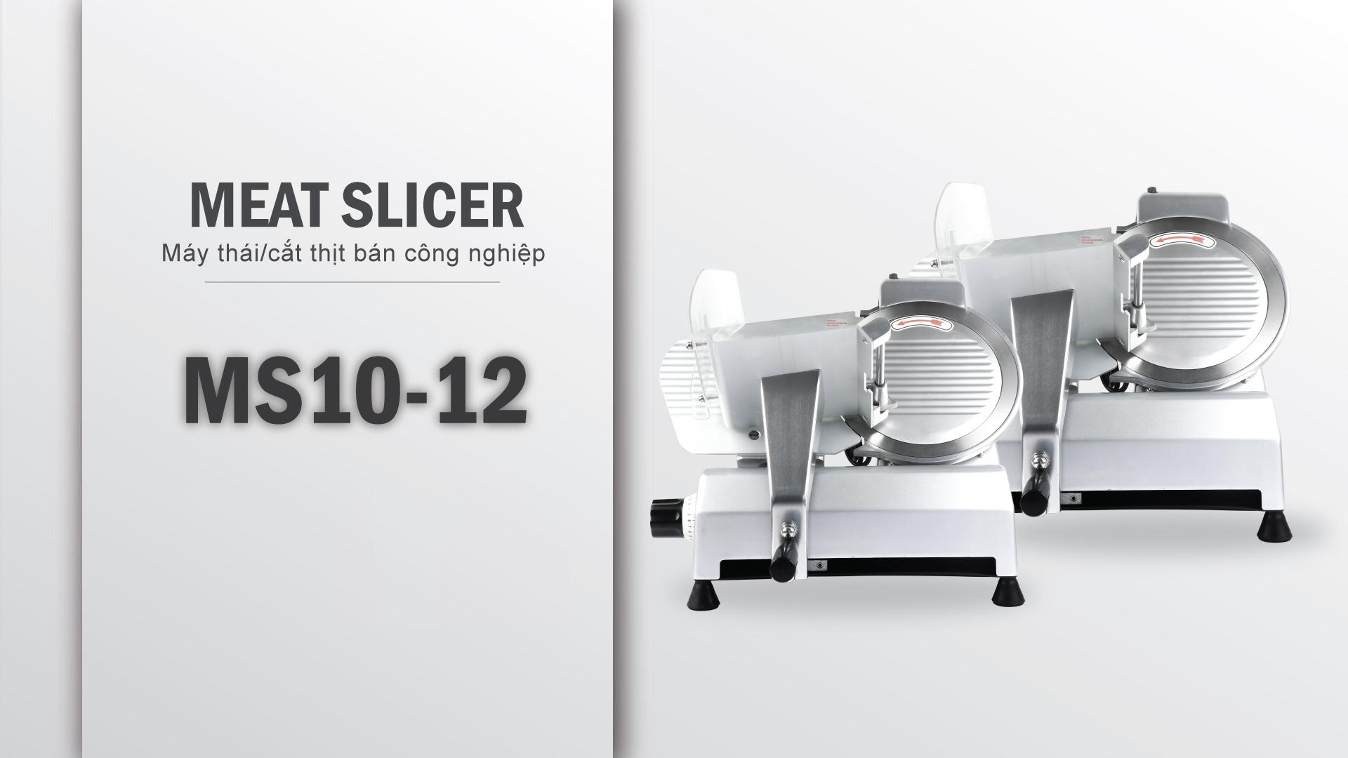 Máy thái cắt thịt đông lạnh bán công nghiệp MS10 MS12