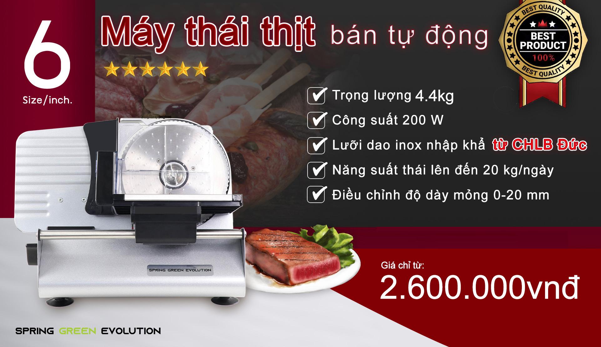Máy thái thịt bán tự động MS6