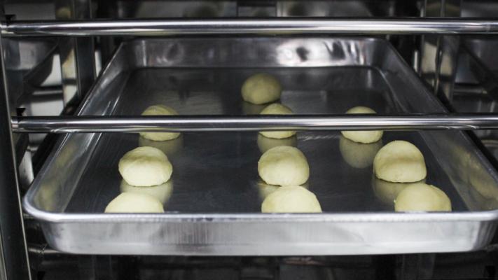 Tủ lên men bột PF - Bánh bao trước khi lên men