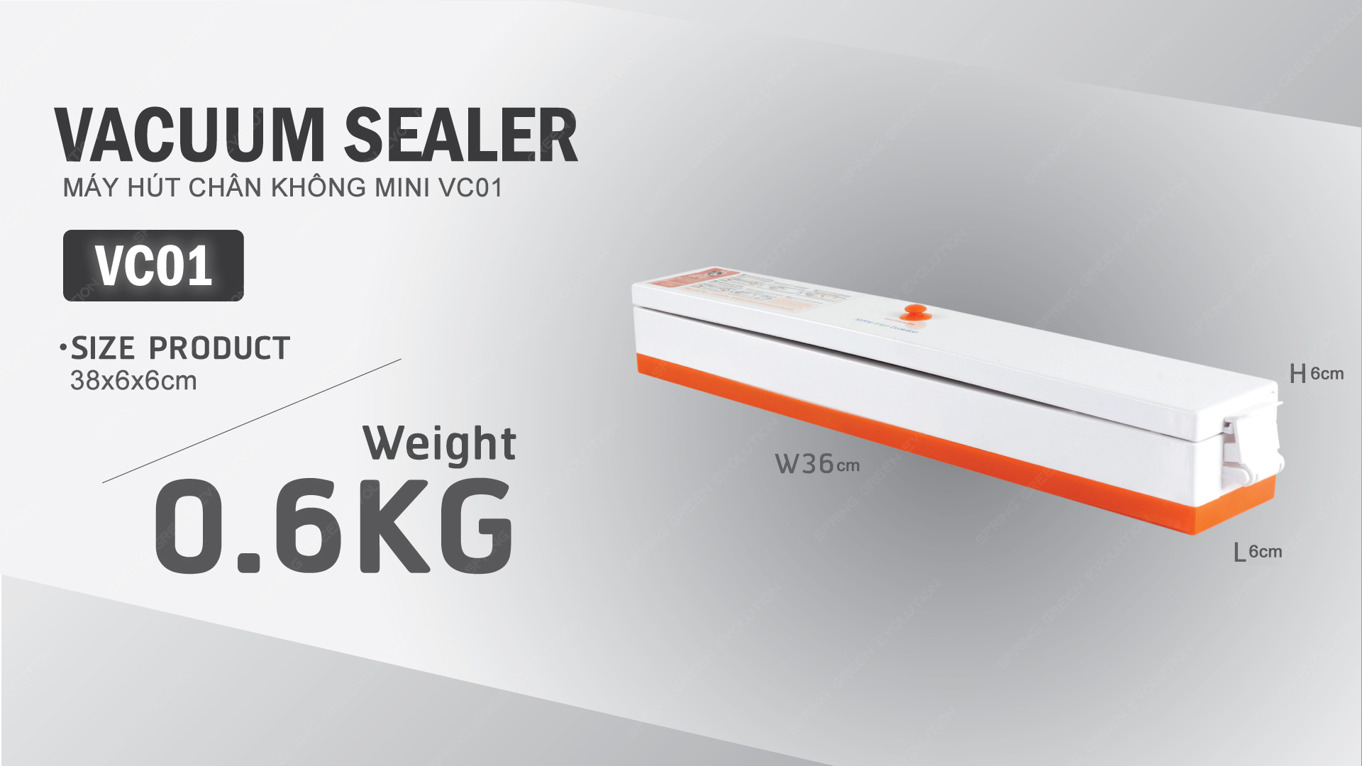 thông số kỹ thuật máy hút chân không mini VC01